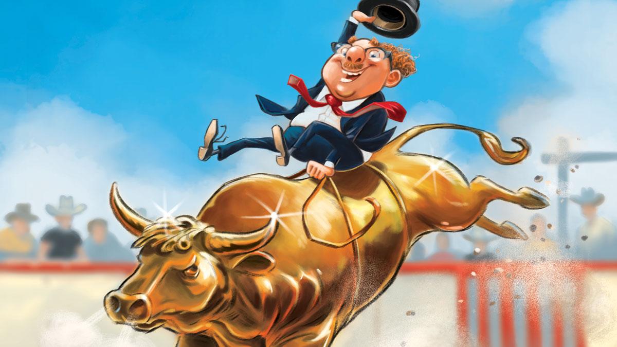 MoneyWeek magazine gold cover illustration