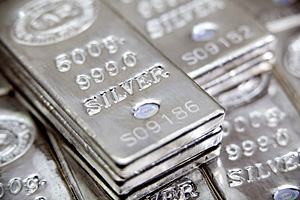 Picture showing silver bars
